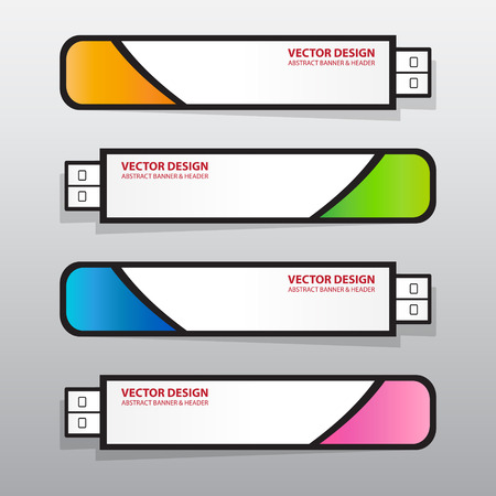 flash drive: The Flash Drive Banner, Vector Work