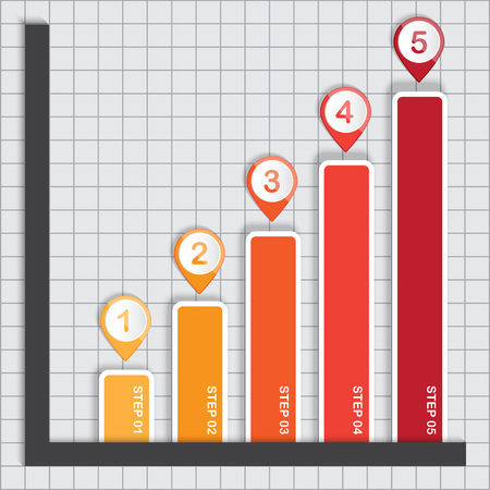 The Business Graph Rising, Vector Work Vector