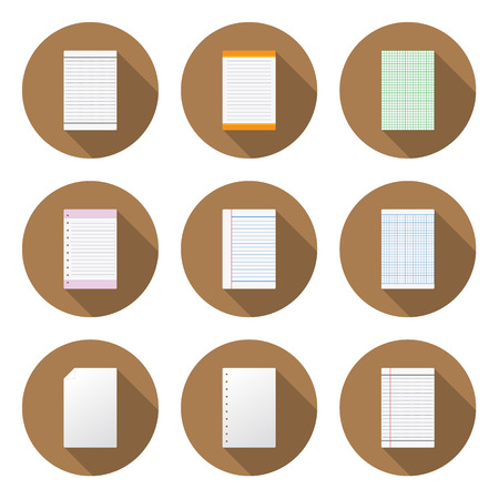 The Circular Paper Icon for Design and Creative Work Illustration