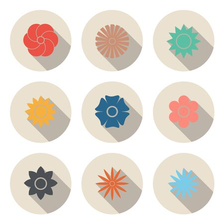 The Circular Flower Icon for Design and Creative Work and Decor in Website