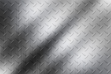The diamond plate background for design work Stock Photo