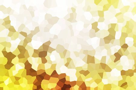 The illustrated golden mosaic background