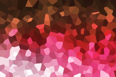 crystallize: The red crystallize pattern background Stock Photo