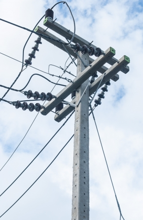 electricity post in thailand photo