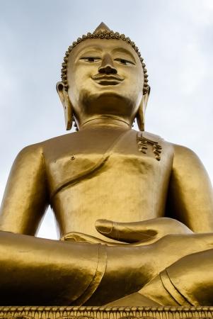 Big Buddha statue isolate on white background photo