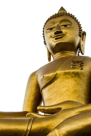 Big Buddha statue isolate on white background Stock Photo - 22601435
