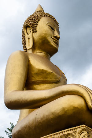 Big Buddha statue isolate on white background photo
