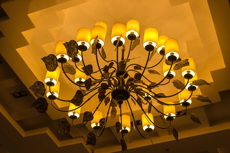 elegant crystal chandelier photo