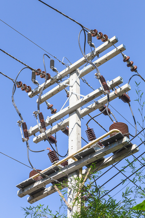 electricity post in thailand Stock Photo - 24090459