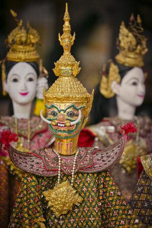 joe louis: String Puppet thailand tradition dolls