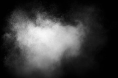 abstract white smoke or fog on dark background, copy space for your text Reklamní fotografie