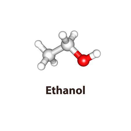 An illustration of ethanol molecule
