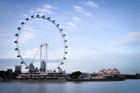 Singapore flyer background.