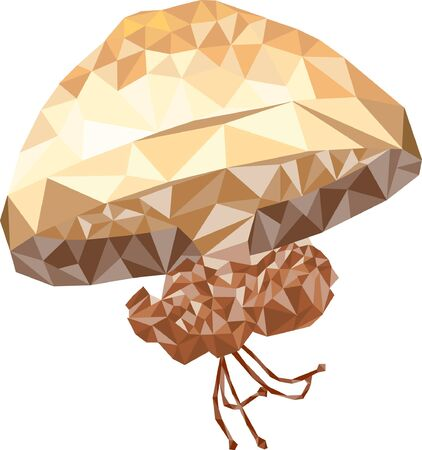 Brown jellyfish icon.