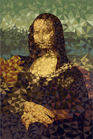 Simplified version of Mona Lisa