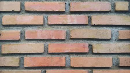 Standard brick type with mortar.