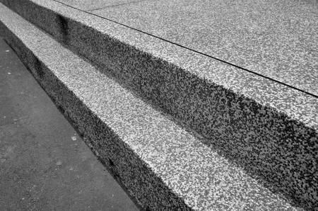 Monotone steps on a street.