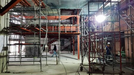 Under-construction on-site in the building.