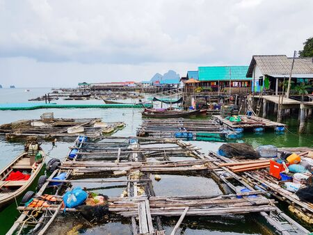 The floating community at Panyee Island, Thailand