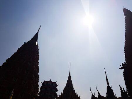 Stupas  in Chiangmai, Thailand. Stok Fotoğraf