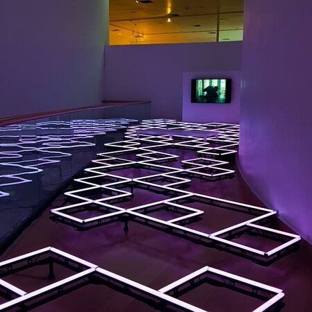LED lights as an art piece in the museum.