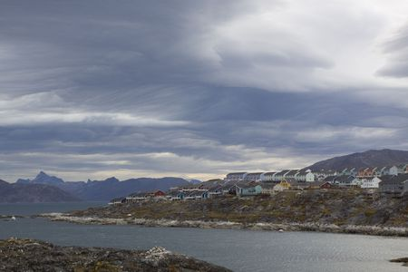 nuuk: A storm approaching Nuuk, Greenland