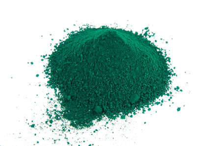 pigments: A mound of green pigments