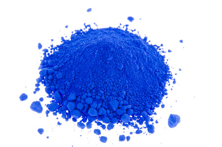 pigments: A mound of blue pigments