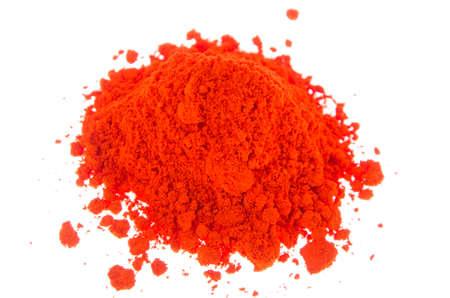 pigments: A mound of orange pigments Stock Photo