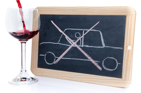 Drunk driving concept, isolated on white photo