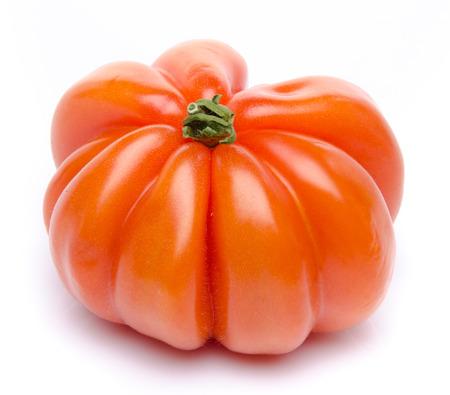Beefsteak tomato, isolated on white