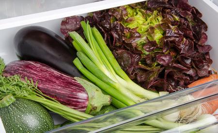 Fresh vegetables in the bottom of the refrigerator Stok Fotoğraf