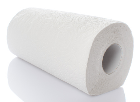 Paper towel roll, isolated on white