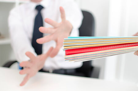 panicked: Businessman panicked before important records