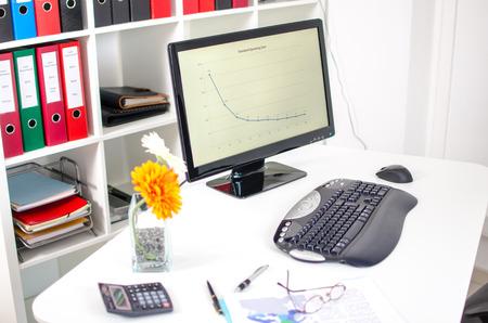 Tidy desk in an office Stok Fotoğraf