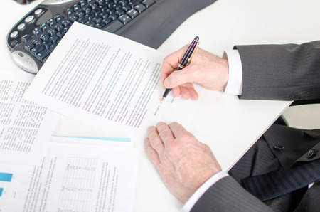 View of a businessman signing a contract photo