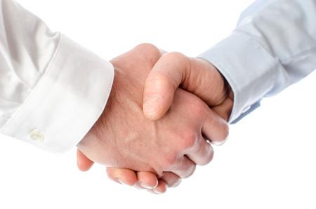Business handshake, isolated on white