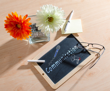 communication �crite: Communication �crite sur un tableau noir