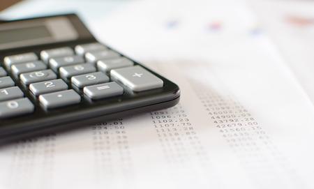 bookkeeping: Accounting desktop, closeup