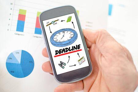 anticipate: Deadline concept on a smartphone