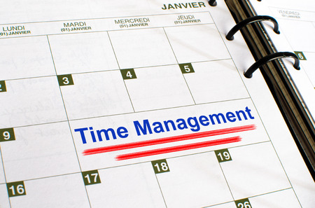 noted: Time management noted in a diary