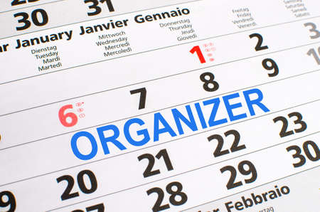 noted: Organizer noted on a calendar