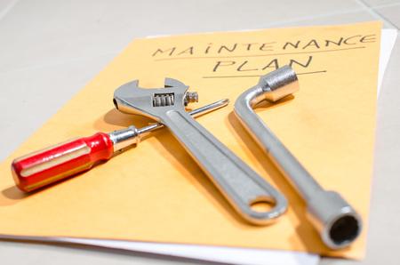 maintenance: Different tools on a folder of maintenance plan