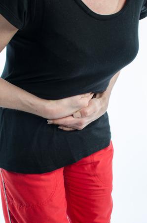 personas enfermas: Mujer que tiene dolor de est�mago