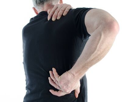 back muscles: Man having a pain back