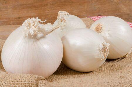 onions: White onions on burlap