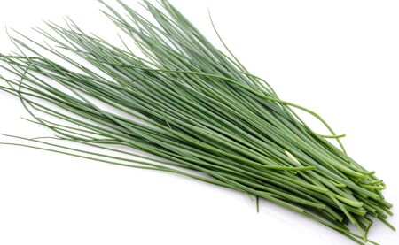 Fresh chives, isolated on white
