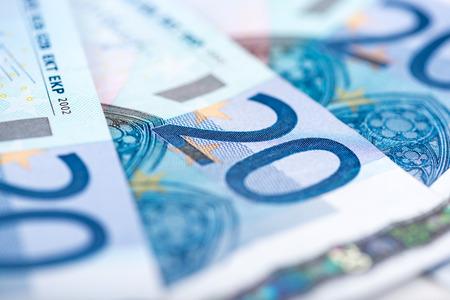 european exchange: Background of twenty euro banknotes
