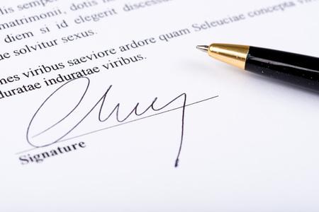 signature: Closeup of signature