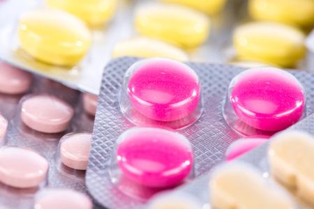 blister: Blister of pharmaceutical pills, closeup